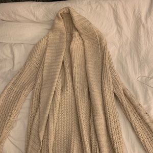 long cream cardigan